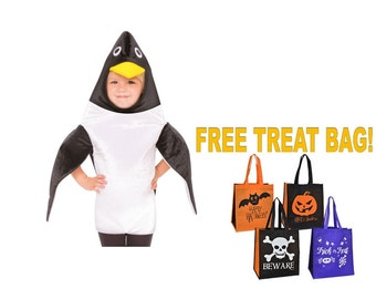 PENGUIN Toddlers 3T - 4T HALLOWEEN COSTUME Boy Girl Childu0027s With Free Treat Bag!  sc 1 st  Etsy & Penguin costume | Etsy