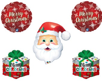 SANTA MERRY CHRISTMAS & Gifts Party Balloons Decorations Supplies Parade School