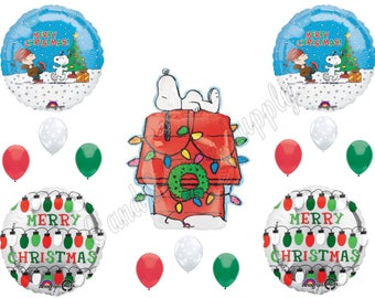 PEANUTS' SNOOPY  Charlie Brown CHRISTMAS Lights Balloons Birthday party Decoration Supplies Parade
