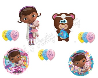 DOC MCSTUFFINS & Teddy Bear Happy Birthday Party Balloons Decorations Supplies Lambie