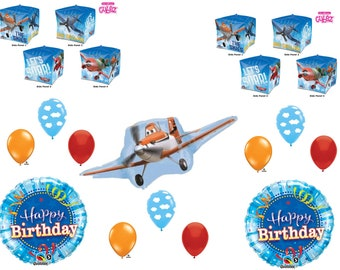 Disney Planes Movie Happy Birthday Party Balloons Decoration Dusty Airplane