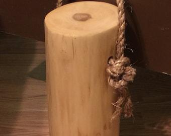 Wooden  Box elder door stop