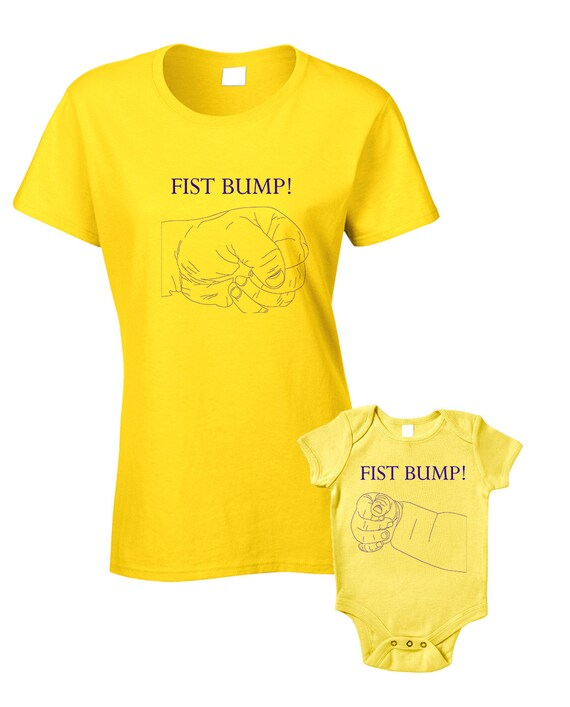 6f0974a722cc Fist Bump Baby T-Shirts or Baby Grow Matching Mother Child