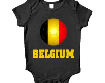 Belgium Road To World Cup Baby Grow Brazil 2014 Inspired Gift Commemorative Present
