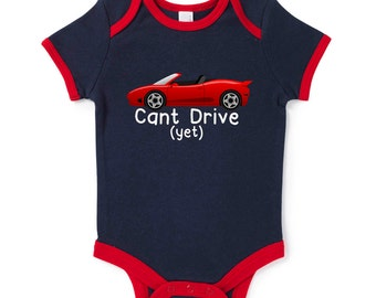 Can't Drive Yet Funny Slogan Baby Grow Humour Gift Present Baby Shower Birthday