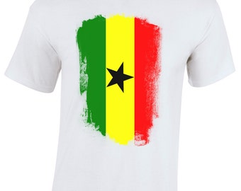 Ghana Retro Distressed Flag Children's T-Shirt Youth T-Shirt World Cup 2014 Memorabilia