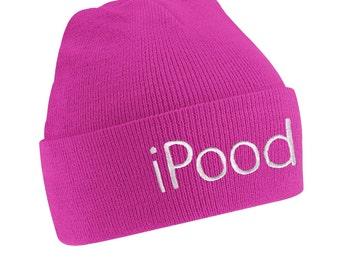 iPood Funny Slogan Children's Beanie Hat Keep Your Head Warm This Cold Winter