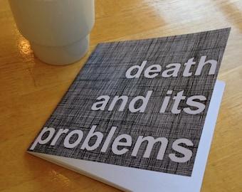 Death: And Its Problems (Scrimshander Books Vol. 1)