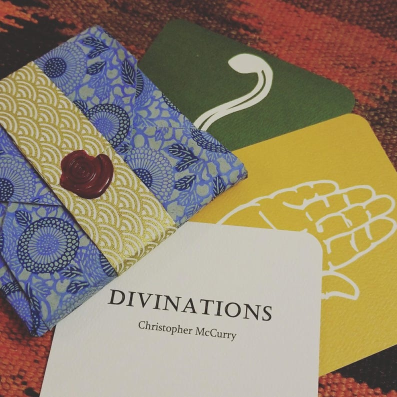 Divinations by Christopher McCurry poetry cards for insight & image 0