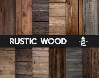 Rustikale Holz Texturen, natürliche rustikale Holz Papier, 12 x 12 Zoll Holz Scrapbook Papier, dunklen Holz Papier, dunkelbraunem Holz, BUY5FOR8