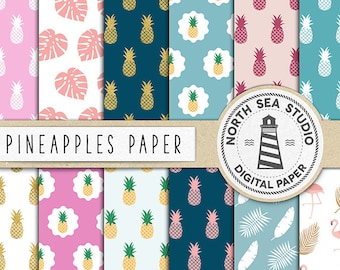 PINEAPPLE JUICE, Digital Paper, Fruit Backgrounds, Sweet Pineapple Patterns, Pineapple Papers For Craft, Coupon Code: BUY5FOR8