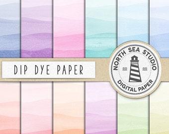 Aquarell DIP DYE, digitales Papier, Regenbogen Farbverlauf, Farben, gefärbt Tauchen Farbstoff Aquarell Papiere, kommerzielle Nutzung, Gutschein-Code: BUY5FOR8