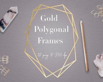 90fa872b1216 Gold Geometric Frames