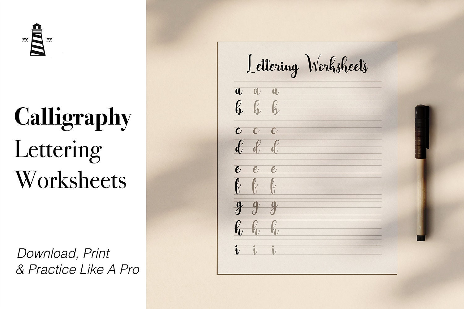 Calligraphy Lettering Practice Sheets, Printable Lowercase Alphabet  Letters, Modern Calligraphy Lettering, Coupon Code: BUY3FOR6