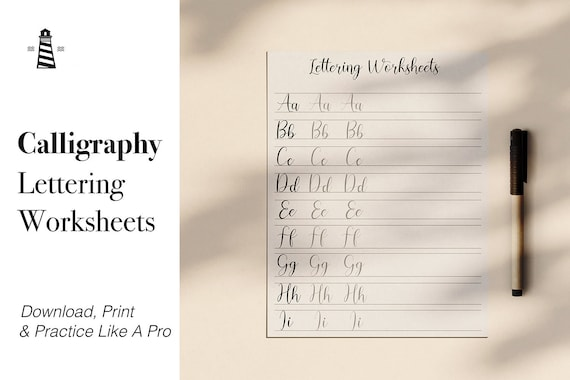 photo about Printable Guides identify Calligraphy Teach Publications, Calligraphy Lettering