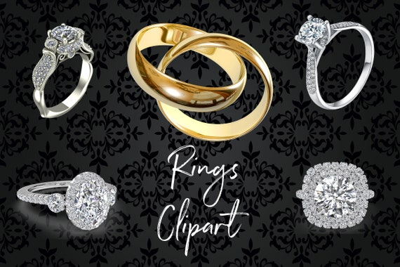 Rings Clipart The Wedding Day Clipart Bling Diamond Rings Realistic Rings Png Ring Images Engagement Wedding Clipart Bridal Shower By North Sea Studio Catch My Party