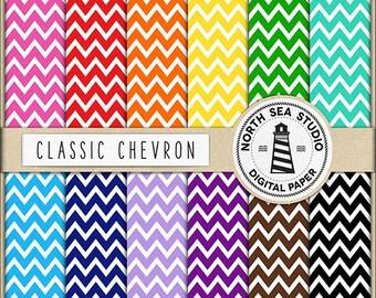 BUY5FOR8 Chevron Digital Paper Chevron Paper Chevron Backgrounds Digital Scrapbooking 12 JPG 300 DPI Files Download