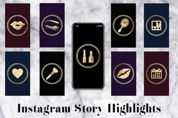Instagram Highlight Covers Black Marble Me