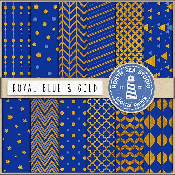 Gold Digital Paper Blue And Gold Paper Blue Backgrounds Gold Patterns Digital Scrapbooking 12 Jpg 300 Dpi Files Download By North Sea Studio Catch My Party