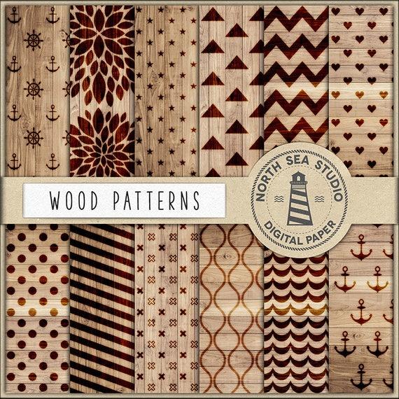 Wood Digital Paper Wood Burning Patterns Woodburning Etsy