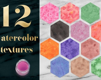 Watercolor Texture Pack, Hand Painted Watercolour Textures, Solid Watercolor Backgrounds, Watercolor Digital Paper, Coupon: BUY12FOR15