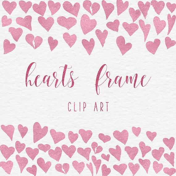 BE MINE Rose Heart Frames Clipart Pink Heart Frames Love   Etsy