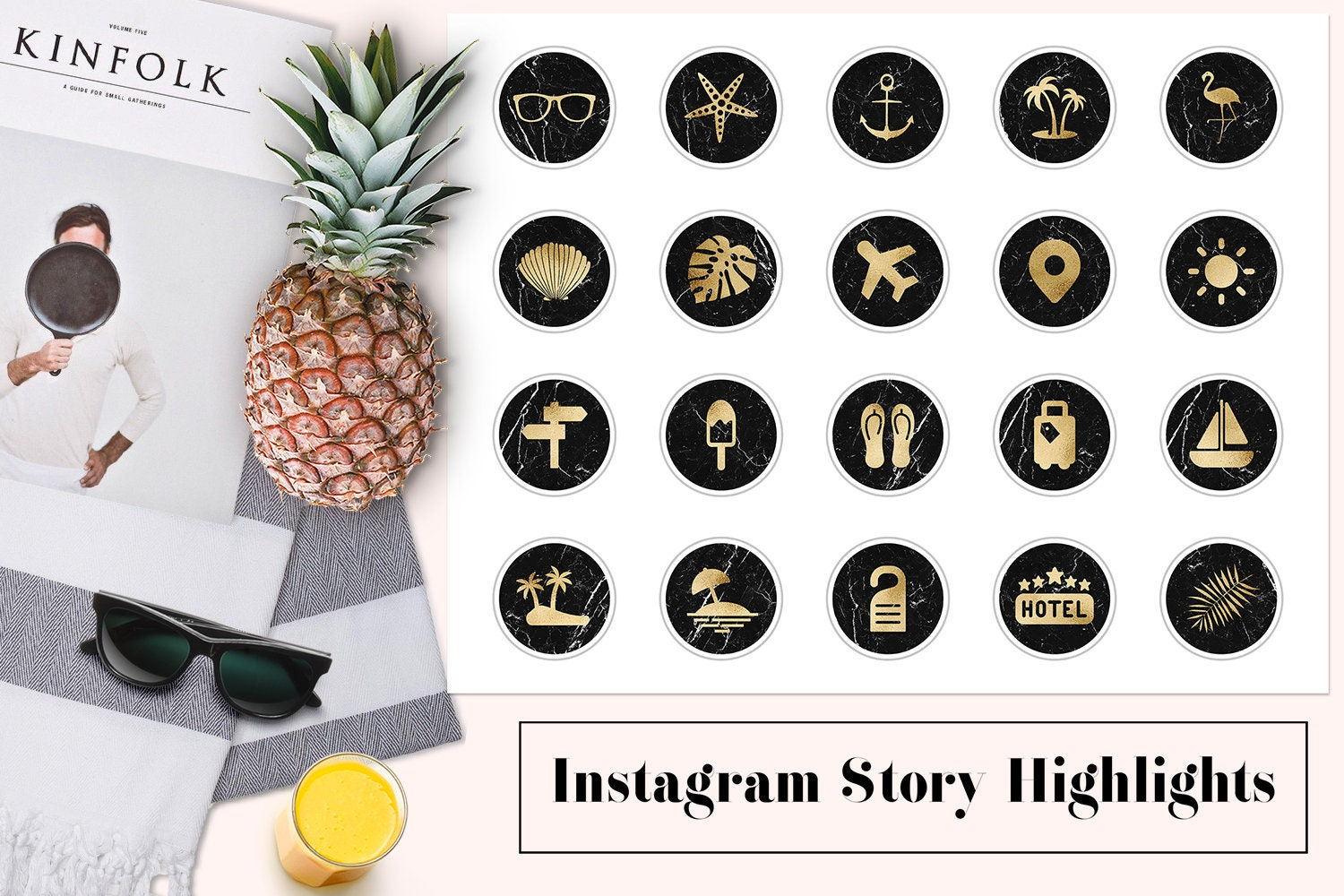 Instagram Highlight Icons Marble Summer