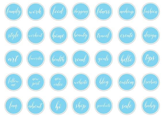 Instagram Story Highlight Icons Blue Instagram Story Etsy