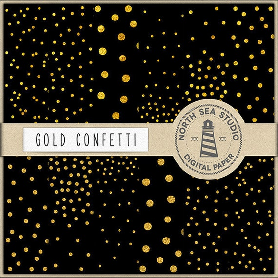 dark luxury gold foil confetti paper black and gold confetti