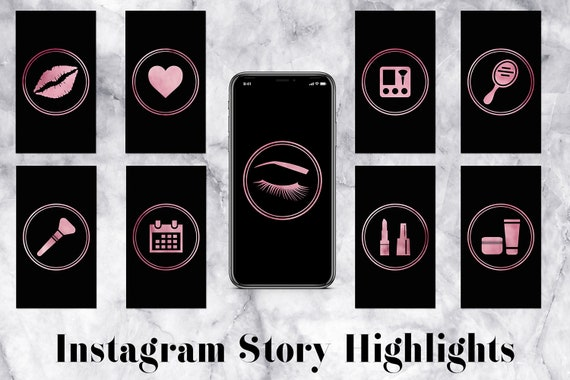 Insta Stories Highlight Icons, Makeup Artist Icons, Rose