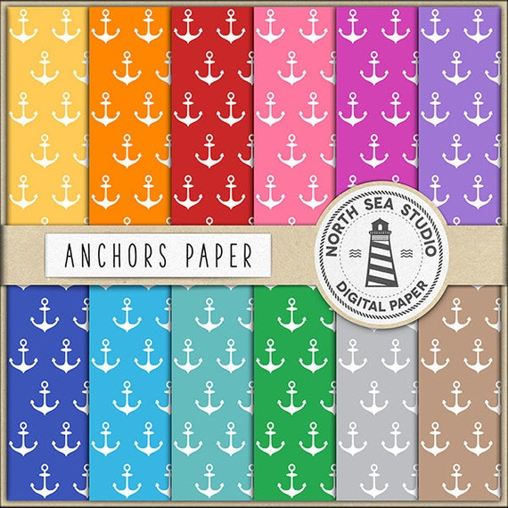 photograph regarding Printable Backgrounds identified as SAILORS Anchors Electronic Paper Pack Anchors Paper