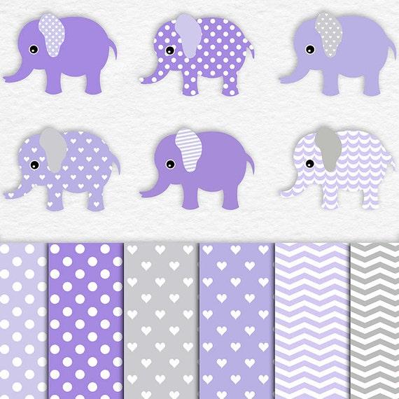 Baby Elephant Baby Shower Clip Art Cute Baby Elephants And Etsy