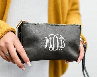 Monogram Wristlet  Monogram Wristlet Wallet, Personalized Wristlet, Personalized Gift, Gift for Her, clutch purse, Gift for Teen