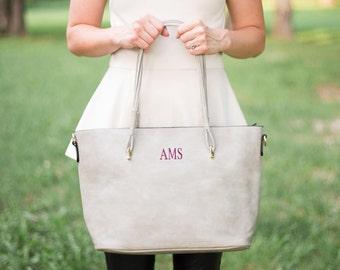 Monogrammed Top Handle Purse | Shoulder Purse | Monogrammed Handbag | Vegan Leather Purse | Monogrammed Purse | Gift for Her | Ellington