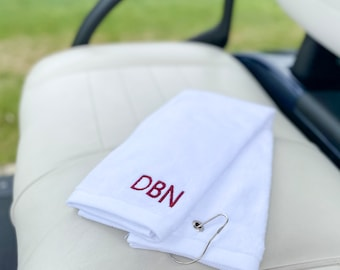 Embroidered Golf Towel, Monogrammed Towel, Golf Gifts for Men, Personalized Fathers Day Gift, Personalized Gifts for Dad, Father's Day Gift