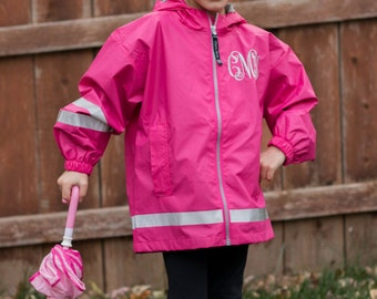 Monogrammed Charles River Rain Jacket | New Englander Rain Jacket | Youth Rain Jacket | Personalized Rain Jacket | Girls Rain Jacket