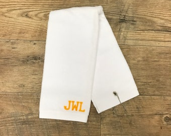 Personalized Golf Towel | Personalized Gift for Him| Birthday Gift for Him |Golf Gift |Gift for Dad| Gift for Him|Personalized Gift for Men|