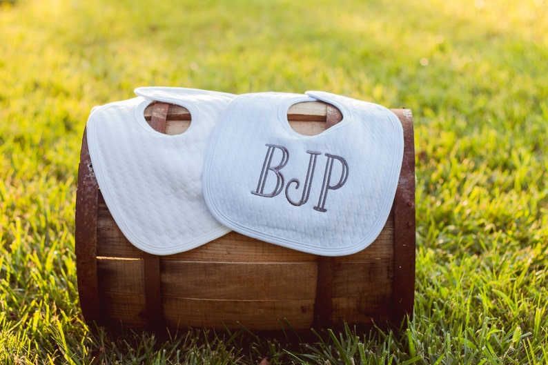 Baby Boy Bib Personalized Embroidered Baby Bib Boy Gift for image 1