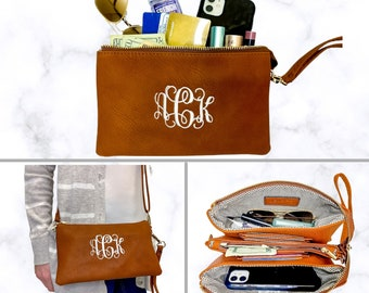 Monogrammed Wristlet Wallet | Personalized Wristlet Wallet | Personalized Gift | Gift for Her | Gift for Mom | Birthday Gift | Monroe