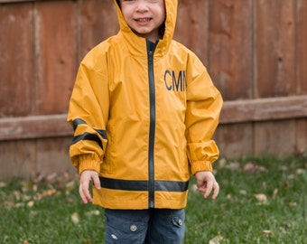 Monogrammed Charles River Rain Jacket | New Englander Rain Jacket | Youth Rain Jacket | Personalized Rain Jacket | Boys Rain Jacket