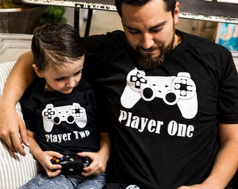 33e8b9e60 Player One and Player Two Bodysuit and T-shirt Set