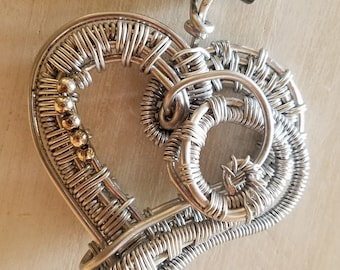 SOLD    Large wire heart