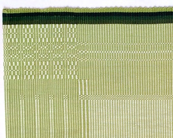 handwoven table linen made of fine cotton yarn, very robust, green, suitable for washing machines