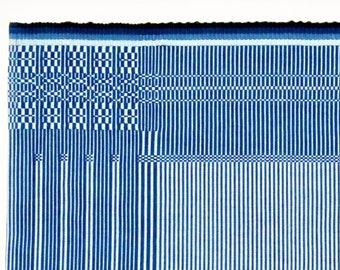 handwoven placemat in rep weave technique