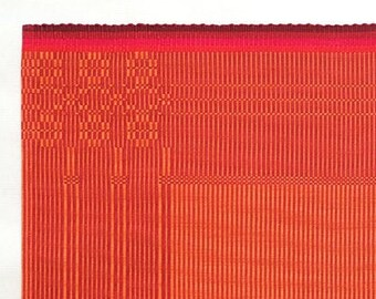 handwoven placemat/table linen with flower pattern