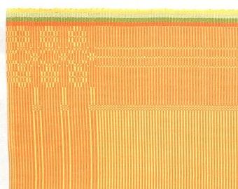 placemat flower pattern orange