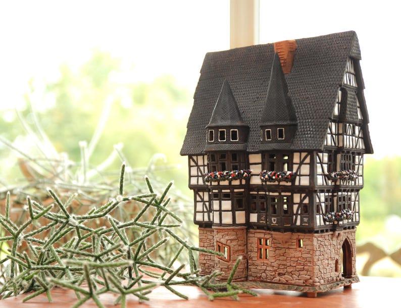 Keramik Kerzenhalter Rathaus In Alsfeld Etsy