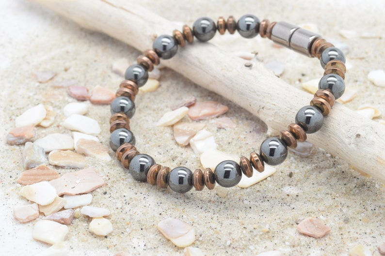 Magnetic Hematite extra strength magnetic clasp Magnetic Necklace handmade to order Men/'s or Woman/'s jewelry necklace free quick ship