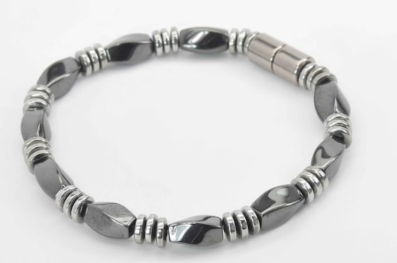 Men/'s Women/'s HEALTH 100/% Magnetic Hematite Bracelet Anklet Magnetic Clasp