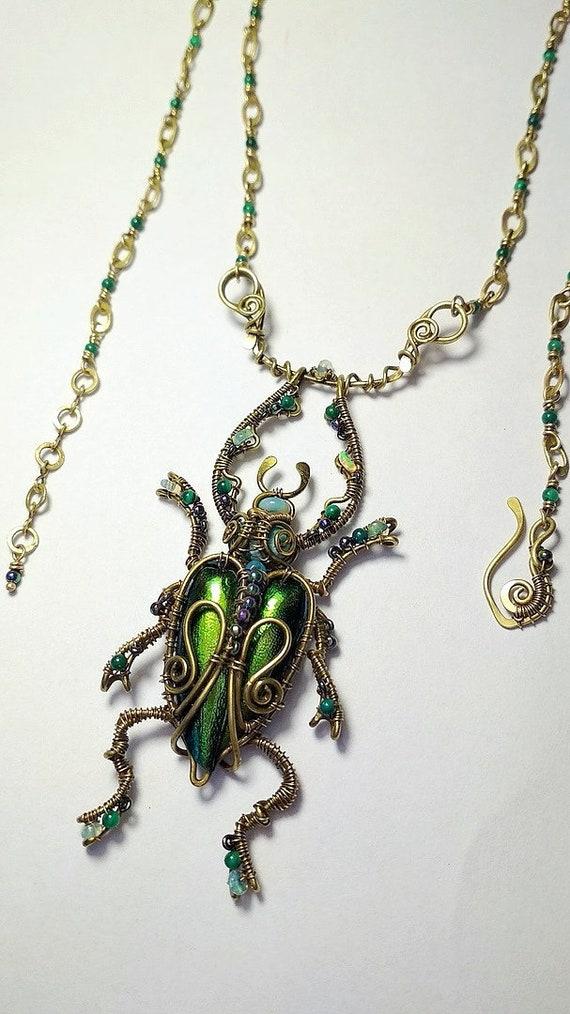 fatto a mano ciondolo a forma di scarabeo scarabeo egiziano un bel regalo. Collana egiziano scarabeo gioielli